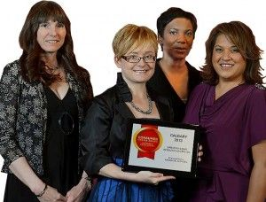 Debbie Ward & Staff Accept CCA Award for Paralegal Services Excellence