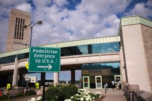 Pedestrian Entrance Border Crossing to USA